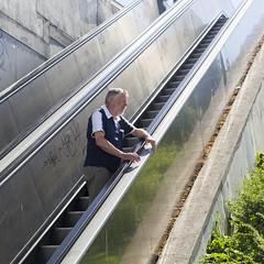 Albufeira (Hans van der Boom) Tags: vacation holiday europe portugal algarve albufeira people man brother sijbrand escalator pt