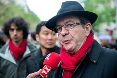 Jean Luc Mlenchon (dprezat) Tags: paris contest protest rpublique communisme manifestation internationale d800 proletariat 1ermai ftedutravail jeanlucmlenchon mlenchon nikond800nikon frontdegauche