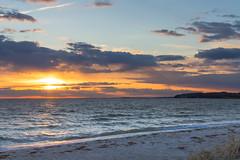 Sunset on Rgen (benwei13) Tags: strand deutschland sonnenuntergang urlaub rgen mecklenburgvorpommern thiessow
