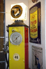 D12573.  National Benzole Petrol Pump. (Ron Fisher) Tags: uk greatbritain england heritage history europe pentax unitedkingdom cotswolds gloucestershire gb bourtononthewater pentaxkx thecotswolds motormuseum cotswoldmotormuseum cotswoldsmotoringmuseum
