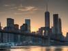 Brooklyn Bridge (Natural) (John Bauder Photo) Tags: nyc newyorkcity sunset canon brooklynbridge hdr highdynamicrange postprocessing photomatix nycsunset newyorksunset canonhdr canoneos70d canoneos70dhdr