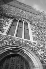 Fade Away (Andy Miles Photography) Tags: uk england blackandwhite church suffolk europe religion property placeofworship tiltshift elmswell