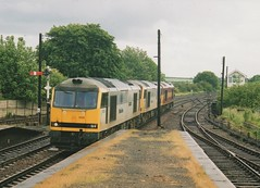 """Class 60's, 60009 """"Carnedd Llewelyn"""", 60094 """"Tryfan"""", & 60012 (37190 """"Dalzell"""") Tags: brush doughnut tug tryfan carneddllewelyn ews 60009 class60 barnetby triplegrey 60012 60094 maroongold type5 trainloadfreight englishwelshscottishrailways mainlinefreight"""