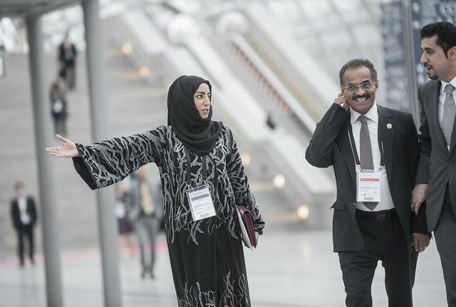 Lemya Alsubousi with Abdullah Bin Mohammed Billhaif Al Nuaimi