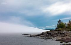 Rolling (Boreal Bird) Tags: fog brightonbeach lakesuperior fogbank rollingfog maryamerman