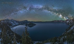 Milky Way over Crater Lake... (markarlilly) Tags: oregon zeiss nationalpark cascades pacificnorthwest craterlake wizardisland milkyway craterlakenationalpark craterlakenp klamathcounty zeiss15mm distagon1528zf