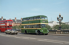 Salford City Daimler No.112 on Westminster Bridge - LT Jubilee run. Jul'83. (David Christie 14) Tags: salford westminsterbridge cvg6 ltjubileerun