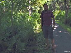 Autoportrait au bord du chemin (Jean S..) Tags: jeans me moi myself gay shirt forest beard bearded path autoportrait self selfportrait selfie outdoor