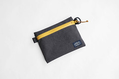 Flat Pouch Charcoal 02 (Imagery Bags) Tags: zipper ykk waterresistant flatpouch drypouch