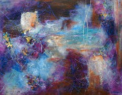 Recollected Reflections 8, Oil On Canvas, 71 x 91 (28 x 36) 2015, www-eddiefordham-com (Eddie Fordham) Tags: purple abstract painting blueabstract blueabstractpainting clouds reflectionsinwater dartmoorabstract dartmoorart devonoilpainting southdevonabstractpainting floatingleaves