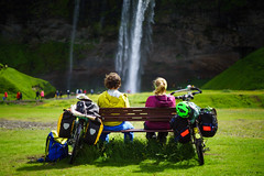 Ride together. (Luke Sergent) Tags: active activity adventure background bags beautiful bicycle bicycler bike bikepacking biker biketouring biking bonding cascade cycle cycling cyclism cyclist cyclotourism destinations dramatic equipment expedition extreme flowing freedom fully heavely heavily heavy holiday iceland icelandic journey landmark landscape leisure lifestyle load loaded luggage mountain mountainbike mountainbiking mtb nature outdoor outdoors outside packed pannier panniers pedal racks recreation ride fd 50mm 14 canon sony a7r legacy glass two friends partners fd50mm14 sonya7r chromenose lpthanks