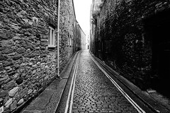 The Cobbled Road (JamieHaugh) Tags: plymouth newstreet barbican devon cobble street blackandwhite blackwhite monochrome buildings road architecture outdoor outdoors hoe england sony a6000