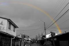 Suburb (Bang!!) Tags: street houses sun luz sol rain weather arcoiris lluvia rainbow exterior villa suburb casas barrio suburbio poblacion
