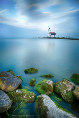 Paard van Marken (Steven Dijkshoorn) Tags: paard van marken long exposure colors vuurtoren lighthouse zee sea beach stones blue landscape landscap landschap netherlands dutch holland nederland