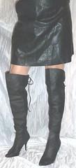 020 (bib birdy) Tags: sandals skirt xdresser trans crossdresser transgender tranny tgirl transvestite tg tv cd black high heel overknee crotch leather boots wetlook dress skintight skinny tight nylon lycra spandex pvc