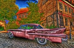 PG3_6842_fattal_1_0.6_0.8-flr (MUPFT) Tags: mupft celle giesemann pinkcadillac cadillac pink auto automobil architektur fachwerk hdr bunt farbe strase heckflosse chrom schtzenmuseum