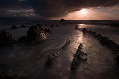 HARD SUNSET (Jesus Bravo) Tags: sunset beach country basque barrika