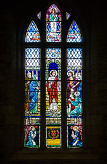 Biggar Kirk interior (12) (Bill Cumming) Tags: lanarkshire biggar church historic stainedglass
