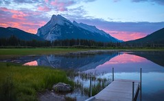 Welcome to Mt Rundle (Robert Ron Grove 2) Tags: banff rundle robertgrove sunrise peaceful morning ~themagicofcolours~vi c