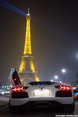Rallye de Paris 2012 - Lamborghini Aventador (Deux-Chevrons.com) Tags: lamborghiniaventador lamborghini aventador supercar sportcar exotic exotics rallyedeparis rallye paris france car coche auto automotive automobile nuit night toureiffel eiffel tour eiffeltower tower