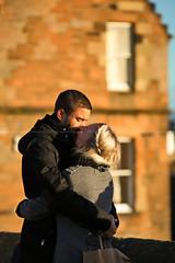 the love bird (azahar photography) Tags: kiss couple love inlove sweets ediburugh scotland england castle