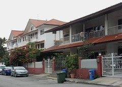 Houses in Kovan (mikecogh) Tags: houses singapore bougainvillea balconies middleclass rubbishbins kovan