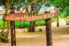 Entering Paradise Beach (wandercrumbs) Tags: paradise beach watersports sea banana boat jetski seafood pondicherry puducherry