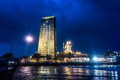 Lord Shiva @ Blue hour | Murudeshwara Temple,India (vjisin) Tags: sea india architecture clouds dark lights coast nikon asia dusk monsoon bluehour shiva karnataka hinduism pilgrimage pilgrim murudeshwar cwc arabiansea nikond3200 lordshiva indiantourism inexplore konkancoast nikonindia chennaiweekendclickers nikonofficial cwc534