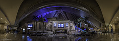 Luxor Hotel July 2016-Panoramic View of Lobby (Juneau Biscuits (aka Len Yokoyama)) Tags: lasvegas nevada sincity luxor casino hotel gambling egyptian egypt sphinx resort titanic lobby
