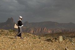 The 'Trekking' Doctors (The Global Fund) Tags: ethiopia healthworker healthextensionworkers healthcare doctor woman desert landscape walking medicine mission rural global fund globalfund health worker africa canon 70d 2470mm