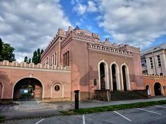 Orthodox synagogue and Jewish school in Kosice, Slovakia (traveltipy.com) Tags: synagogue synagoga kosice slovakia slovensko jewish school zid skola