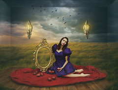 The Poisoned One (leahwyn1) Tags: conceptualart fantasy snowwhite moody cinematic stormy mirror ethereal rkeithclontz leahspitz visualiphotography northcarolina roanhighlands