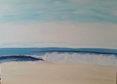 Die Welle (manu1362) Tags: wasser strand meer welle acryl acrylgemälde