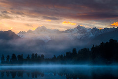 Misty Mountain (Gift of Light) Tags: lakematheson lake matheson newzealand park nationalpark mist fog morning day cloud sky light sunlight landscape mountain snow summer tree forest woods reflection land nature outdoor travel traveldestination touristattraction explore sonyalpha sony alpha sonya7rii sonya7rmkii a7rii a7rmkii sonyfe70200mmf40goss fe 7020040 70200mm f40 4070200 g oss