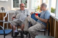 Verne & Rich On The Cottage Porch (Joe Shlabotnik) Tags: higginsbeach 2016 rich maine verne july2016 afsdxvrzoomnikkor18105mmf3556ged