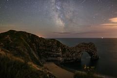 After Sunset. Durdle Door (Shaun Reynolds) Tags: durdle door dorset beach sea bight sky stars gakaxy unicerse
