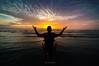 ::O Lord:: (ARULFIKRI) Tags: silhouette landscape reflaction sunrise moment sea seascpe seascape potrait