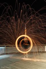 Tourbillon Magique (PrettyLittleStar) Tags: lyon steel wool light canon fire cercle tourbillon long exposure steelwool night france