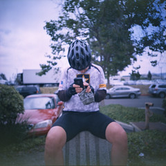 iPhoning (edwardconde) Tags: edwardconde73 photographersontumblr film lomolca120 120film biketour californiatour bicycles mediumformat kodakepp100 lca120 xpro