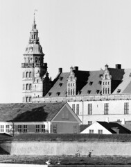 Kronborg Castle (holtelars) Tags: pentax pentax6x7 smcpentax67 500mm f56 6x7 67 idealformat 120 mediumformat blackandwhite monochrome bw film analog analogue foma fomapan fomapan400 fomapan400action 400iso classicblackwhite filmforever filmphotography larsholte homeprocessing jobo autolab atl1500 xtol kronborg elsinore danmark denmark castle