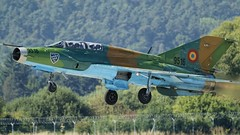 "Romanian MiG-21UM ""Lancer B"" taking off in LZSL (stecker.rene) Tags: mig21 mig21um lancer lancerb 9516 cn516953016 romania romanian air force nato airbase lzsl fishbed upgraded trainer fighterjet jet military takeoff to departure sliac afb aerialdisplay flyingdisplay airshow siaf siaf2016 siaf16 canon eos7d tamron 150600mm"