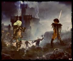 Hardhome (alexandra wardark) Tags: romanticvogue medieval secondlife sl battle castle sword wewanttobefree