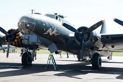 IMG_3820 Sally B (Beth Hartle Photographs2013) Tags: duxford duxfordairshow historic historicaircraft boeing b17 flyingfortress sallyb wwii usaaf bomber