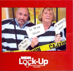 "Neptune Society of Northern California, Livermore - Getting ""Locked Up"" for the Muscular Dystrophy Association"