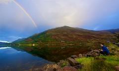 Early morning double rainbow (urbannivag) Tags: northcoast500 scotland adv triumph speedtriple motoguzzi v7 motorbikes adventure touring rainbow doublerainbow loch aultachruinn duich