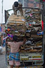 Recycling Cardboard, Dharavi (AdamCohn) Tags: india adam paper cardboard boxes recycle mumbai recycling cohn dharavi slumdog adamcohn wwwadamcohncom dharavislums