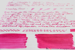 Noodler's Shah's Rose shading (Peninkcillin) Tags: pink red classic fountain sport rose pen ink handwriting paper review magenta fountainpen broad nib cursive shahs eyedropper noodlers clairefontaine kaweco redink noodlersink kawecosport magentaink cursivehandwriting 90g broadnib clairefontainepaper eyedropperfountainpen kawecosportclassic kawecofountainpen kawecosportfountainpen eyedropperconversion kawecosportclassicfountainpen clairefontaine90gpaper noodlersinkreview redinkreview noodlersshahsrose magentainkreview roseinkreview noodlersshahsroseinkreview noodlersshahsroseink shahsroseink shahsroseinkreview shahsrose