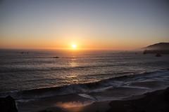 Sunset on the horizon (Spencer Vaishville) Tags: ocean sunset beach water beautiful landscape bay pretty view scenic bodega bodegabay niceday goatrockbeach breaktaking