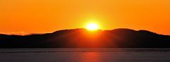 Final Sunset (ShacklefordPhotoArt) Tags: winter sunset sky usa mountain lake ice nature water beautiful burlington sunrise landscape frozen vermont state outdoor newengland champlain