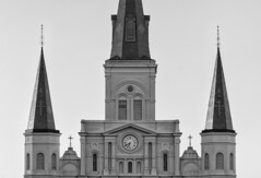 St. Louis Cathedral (Brad Monahan) Tags: blackandwhite bw monochrome louisiana neworleans washingtonsquare silverefexpro2